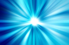 Blurred rays of light. Abstract blue background Stock Photo