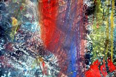 Blurred red blue colors, paint watercolor abstract background Royalty Free Stock Image