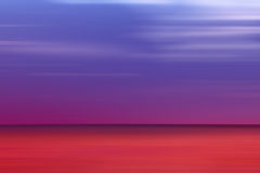 Blurred red and blue sea horizon Royalty Free Stock Photography