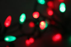Blurred Red and Green Lights Royalty Free Stock Photo