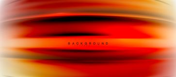 Blurred fluid colors background, abstract waves lines, vector illustration. Blurred red and orange fluid colors background, abstract waves lines, mixing colours Royalty Free Stock Images