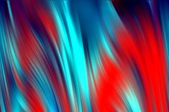 Blurred red phosphorescent waves like shapes, abstract background. Blurred red phosphorescent rainbow colorful pastel waves like shapes and forms, abstract Stock Image