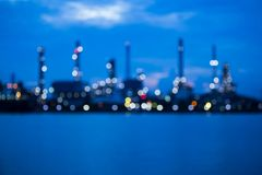 Blurred refinery plant at dawn Royalty Free Stock Photo