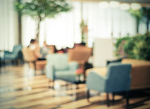 Blurred restaurant with bokeh background Royalty Free Stock Photos