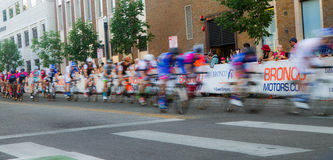 Blurred riders Royalty Free Stock Image