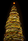 Blurred rotating Christmas tree Stock Photography