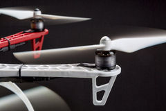 Blurred rotors of a drone Stock Photo