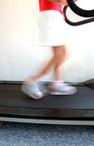 Blurred runner. Running on a treadmill Stock Photography