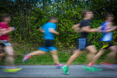 Blurred runners in group Royalty Free Stock Photo