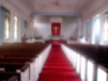 Blurred Sanctuary. Sanctuary of a Methodist church in Maryland royalty free stock photo
