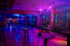 Blurred scene of night club before party started.  royalty free stock photography