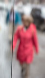 Blurred scene of urban life Royalty Free Stock Images