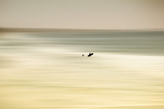 Blurred sea at Oceanside Stock Photography