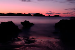 Blurred seascape at dusk, New Zealand Royalty Free Stock Photos