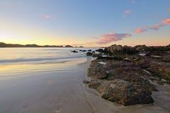 Blurred seascape at dusk, New Zealand Royalty Free Stock Image