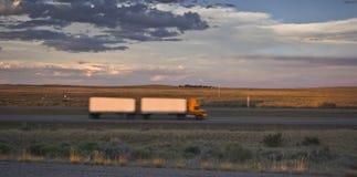 Blurred Semi Truck Royalty Free Stock Photo
