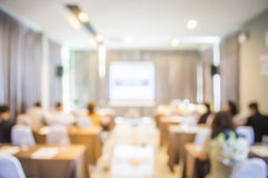 Blurred in seminar room. Abstract blurred in seminar room,education concept royalty free stock photo