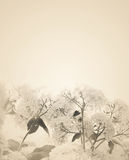 Blurred sepia florals background. Royalty Free Stock Photo