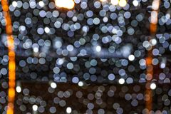 Blurred shiny lights as background stock images