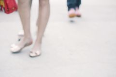 Blurred shoes Stock Photography
