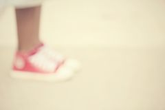 Blurred shoes Stock Image