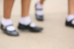 Blurred shoes Royalty Free Stock Photography