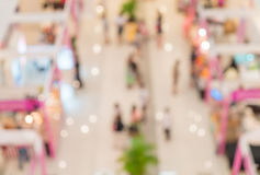 Blurred shopping mall Stock Photo