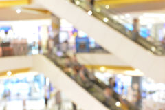 Blurred of shopping mall escalator and people Royalty Free Stock Images