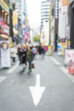Blurred shopping in Seoul city street background. Abstract Blurred shopping in Seoul city street background Royalty Free Stock Photo