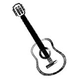 Blurred silhouette acoustic musical guitar instrument Stock Photos
