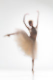 Blurred silhouette of ballerina on white background Royalty Free Stock Images