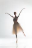 Blurred silhouette of ballerina on white background Stock Images