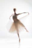Blurred silhouette of ballerina on white background Stock Photography