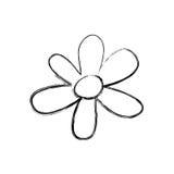 Blurred silhouette flower figure design. Illustration Royalty Free Stock Image