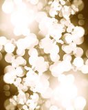 Blurred silver christmas lights Stock Photo