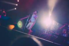 Blurred of singer in concert Stock Image