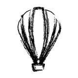 Blurred sketch contour hot air balloon icon Stock Photos