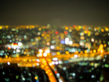Blurred sky city view, rooftop. View at night Royalty Free Stock Photography