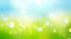Blurred sky grass horizontal background. Stock Photography