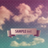 Blurred sky vintage background Stock Photography