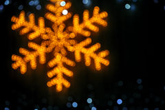 Blurred snowflake background Royalty Free Stock Images