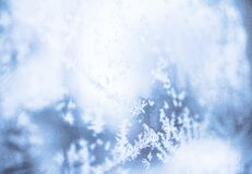 Blurred snowflakes Stock Photo