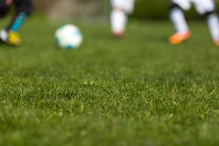 Blurred soccer ball Royalty Free Stock Photos