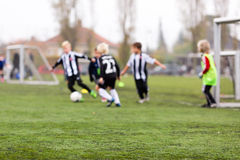 Blurred soccer boys Royalty Free Stock Images