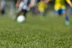 Blurred soccer players Stock Photography