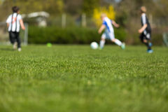 Blurred soccer players Royalty Free Stock Photos