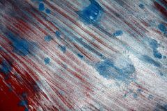Blurred sparkling passion white blue red silver texture paint watercolor spots Royalty Free Stock Photo