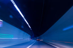 Blurred speed tunnel Stock Photography