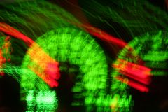 Blurred Speedometer. A blurred speedometer in a car Royalty Free Stock Photo