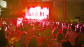 Blurred stage and concert audience Royalty Free Stock Photos